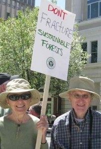 Bill and Tabitha fracking rally